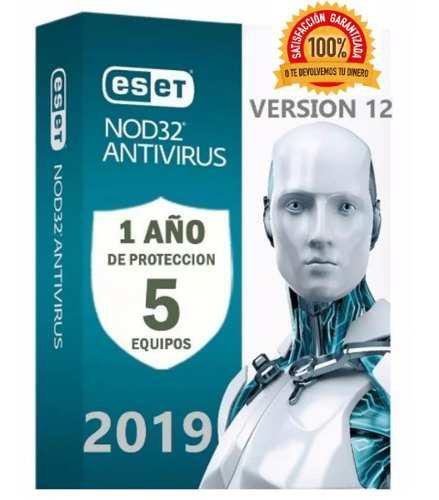 Eset nod32 antivirus 1 año una licencia original (5pc) 2019