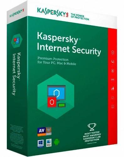 Licencia kaspersky internet security 2019 3 pcs 1 año