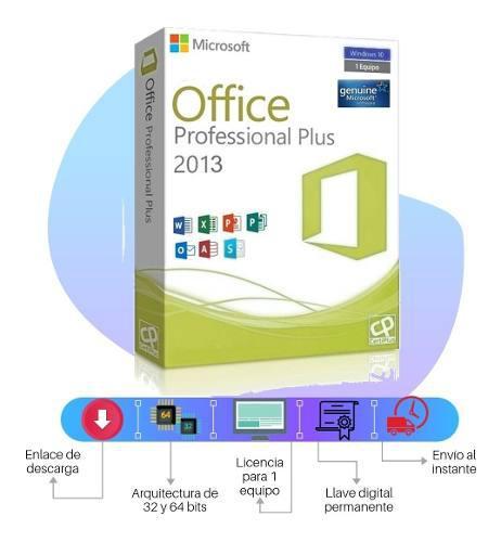 Licencia office 2013 professional plus original 1 pc