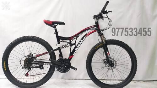 Bicicleta dakars montañera aro 26 doble amortiguador