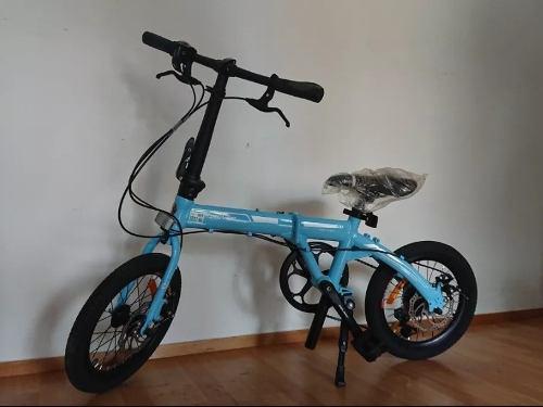 Bicicleta de aluminio plegable shimano