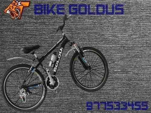 Bicicleta montañera aro 26 marca goldus con amortiguador