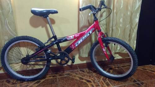 Bicicleta montañera bmx aro 20 remate doble freno