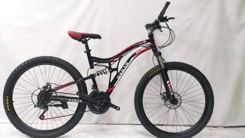 Bicicleta montañera doble amortiguador aro 26 shimano