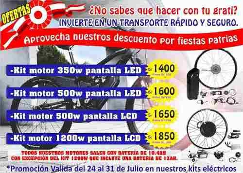 Kit De Motor Bicicleta Electrica 500w Promoción Julio