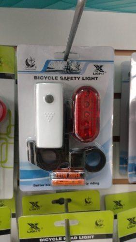 Luces de bicicleta traseras + delantera led - incluye pilas
