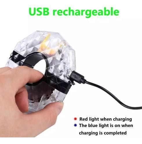 Luz led para aro bicicleta recargable 4 colores en 1 rgb