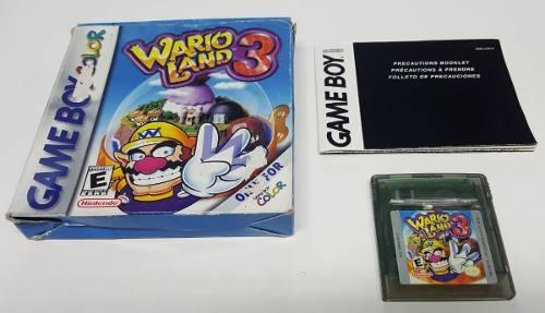 Wario land 3 en caja nintendo game boy color - gbc -gba
