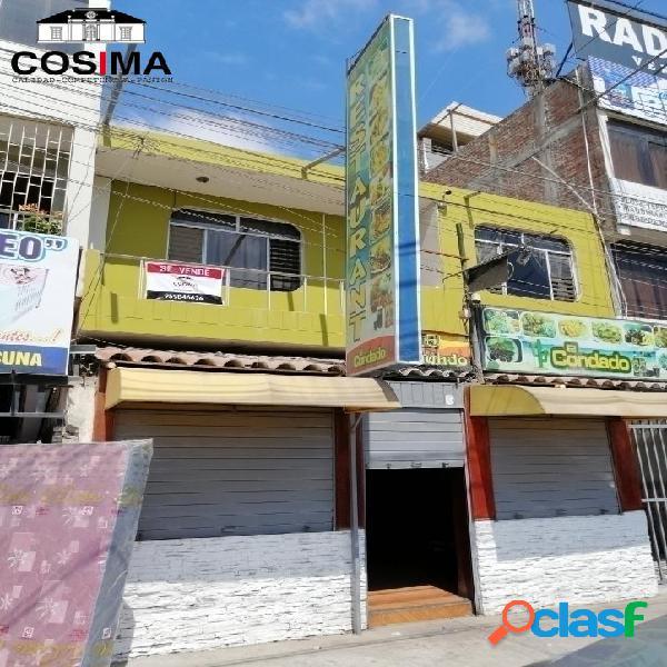 Venta de casa y restaurant en santa ana - piura