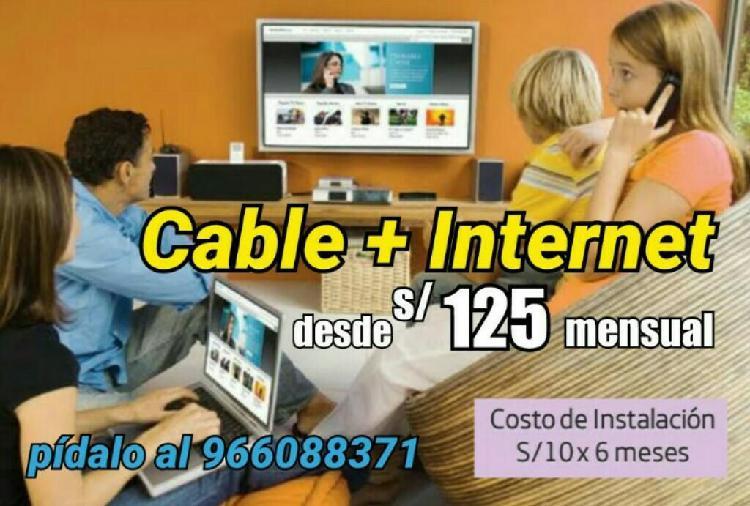 Internet canales de cable