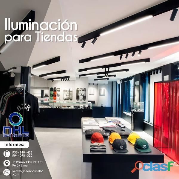 Arquitectura comerical para boutique neon house led