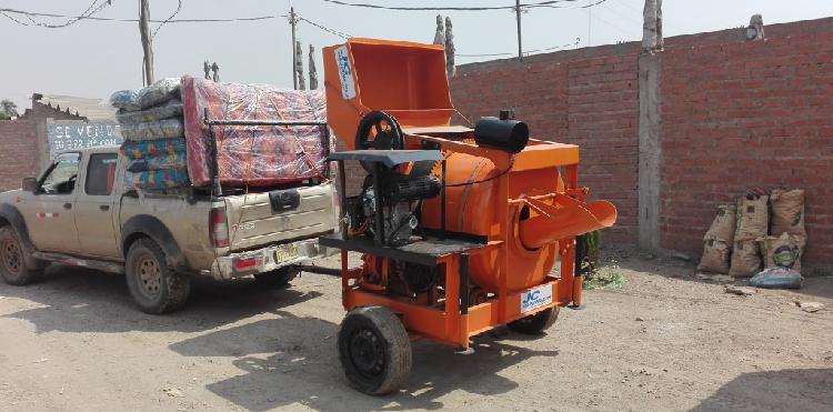 Mezcladora concreto tolva 11p3 motor gasolina 22 hp