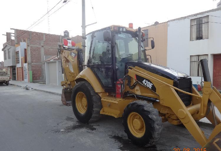 Vendo retroexcavadora caterpillar 420e 4x4 brazo extensible