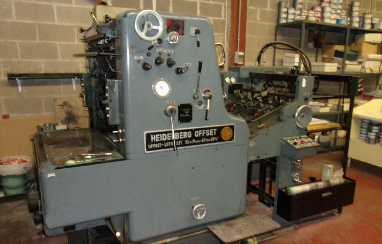 Maquina offset heidelberg