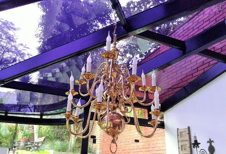 Vendo araña, lampara de cristal 6 luces cel 990 717 651