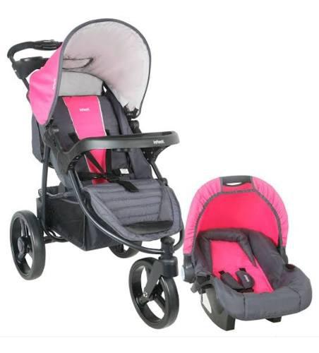Coche para bebé infanti con moisés rosado nuevo y sellado.