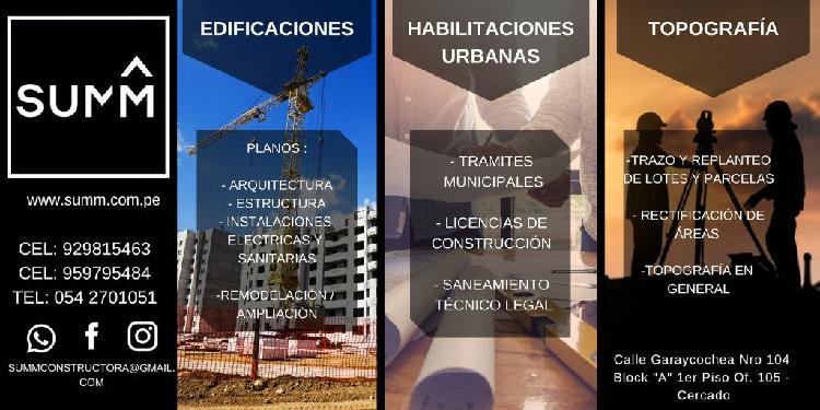 Edificaciones/ remodelacion/ planos/ arq. comercial/