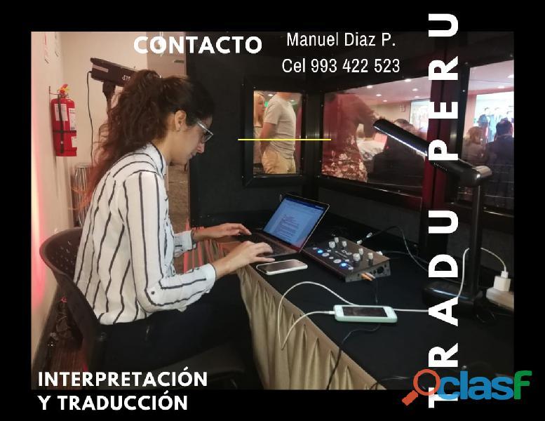 Alquiler de equipos de traducción simultánea en el todo el perú