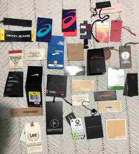 Etiquetas para prendas de vestir de uno o varios folios