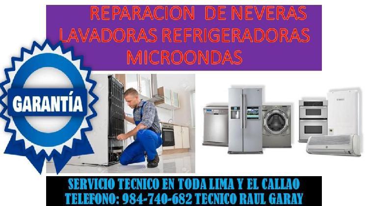 Nuestros servicios de neveras lavadoras lavasecas