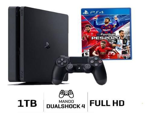Playstation 4 slim 1tb + pes 2020 + póster oficial !!