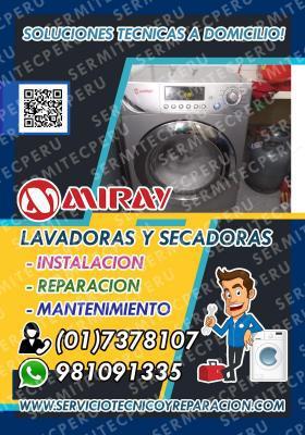 981091335// soporte técnico miray /lavadoras/ en san borja