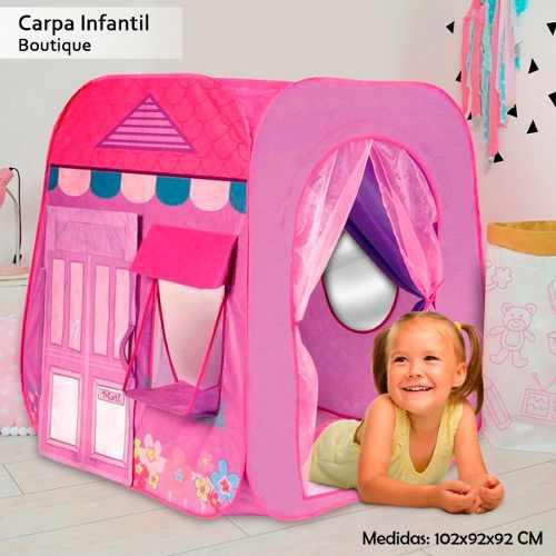 Casa carpa boutique para niñas armable - morada - rosada