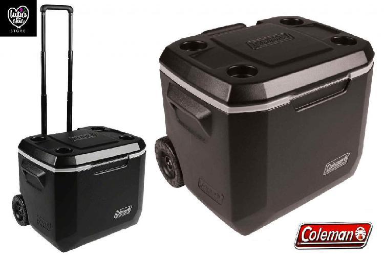 Cooler con ruedas 47lts negro coleman camping playa verano