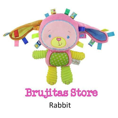 Muñeco estimulacion texturas bebe antialergic-brujitas