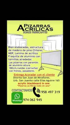 Pizarras Acrilicas