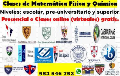 Profesor de matemáticas, física y química a t/nivel 953