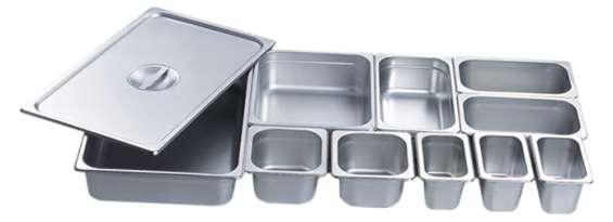 Recipientes gastronorm en acero inoxidable y policarbonato