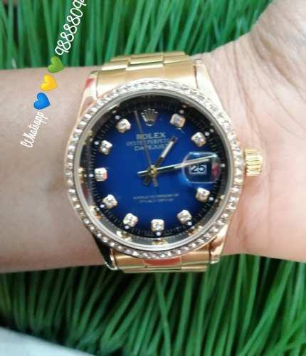 Reloj Rolex Gold+blue