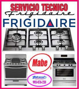 Reparaciones de cocinas a gas frigidaire y mantenimientos