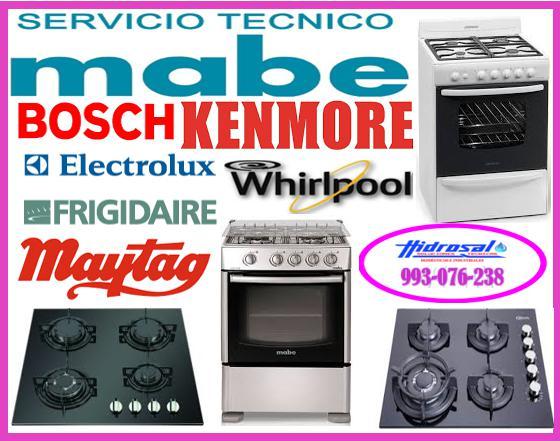 Reparaciones de cocinas a gas mabe 993076238
