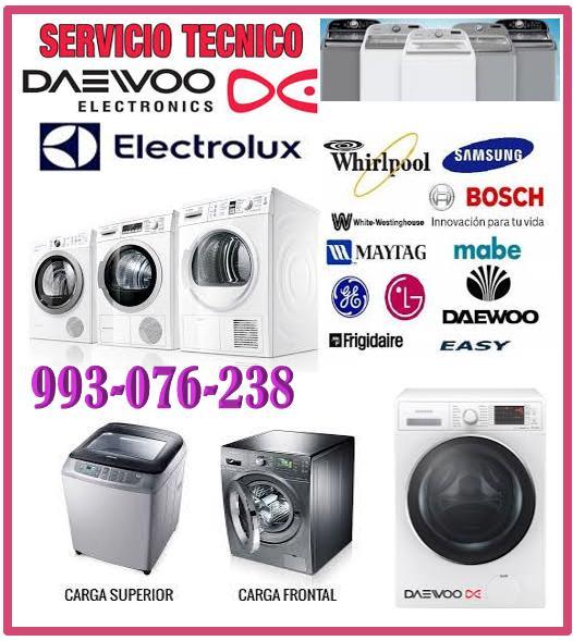 Reparaciones de lavadoras daewoo y mantenimientos