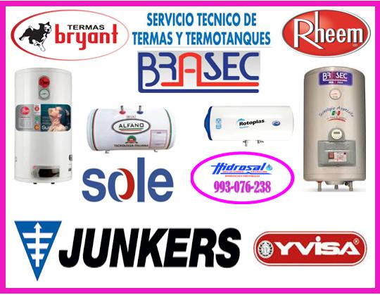 Reparaciones de termas braseca y mantenimientos