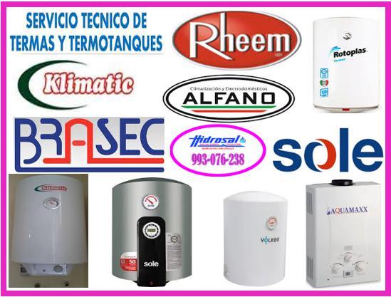 Reparaciones de termas electricas 993076238