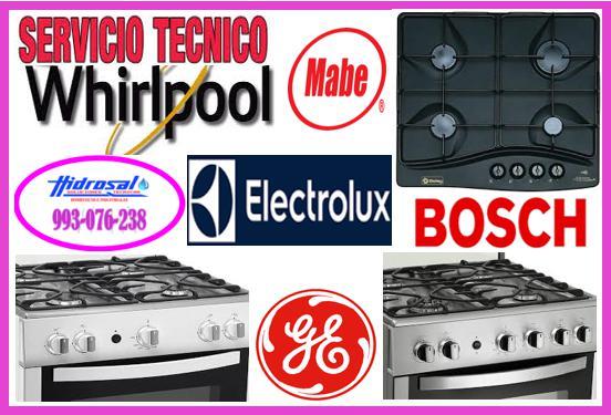 Servicio técnico de cocinas eléctricas whirlpool y