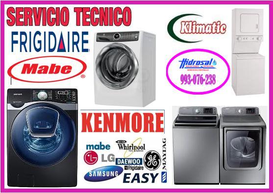 Servicio técnico de lavadoras frigidaire 993076238