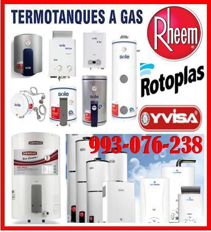 Servicio técnico de termas a gas rotoplas y mantenimientos
