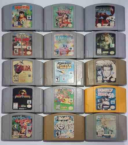 Smash Mario Kart Banjo Tooie Starfox Zelda Nintendo 64 N64