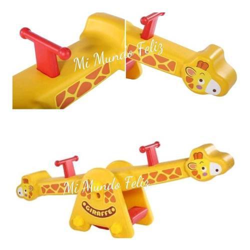 Sube y baja juegos para niños jirafa