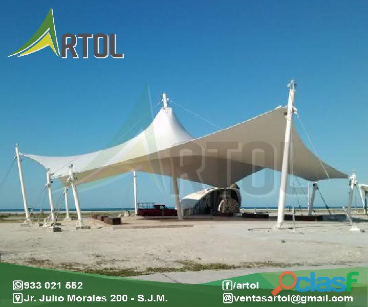 Toldos tensionados estructuras de calidad Artol Perú