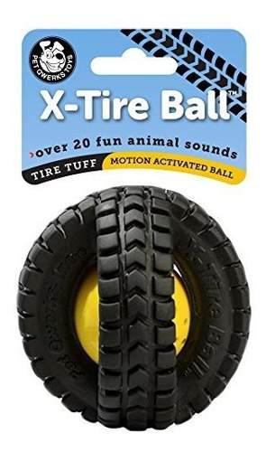 Mascota qwerks animal sounds xtire ball dog toy