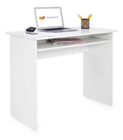 Escritorio con bandeja extraible, computadora, hogar oficina