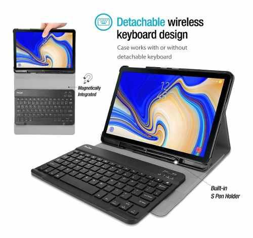 Case c/ teclado bluetooth galaxy tab s4 10.5 t830 2018 usa