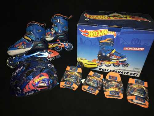 Hot wheels - patines con luces led - set expandible