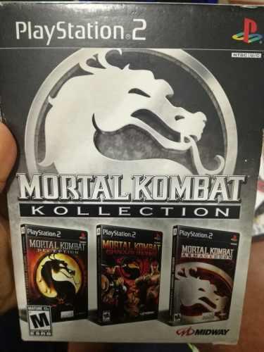 Mortal Kombat Kollection Para Ps2 3 En 1