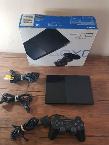 Playstation 2 Ps2 90001 En Caja Con Juegos !!